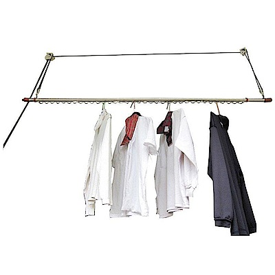 CB001-1 單桿式升降曬衣架(含桿)基本型 一桿式 拉繩式不鏽鋼