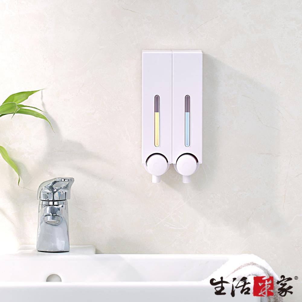 生活采家 幸福手感雙孔手壓式給皂機250ml-經典白
