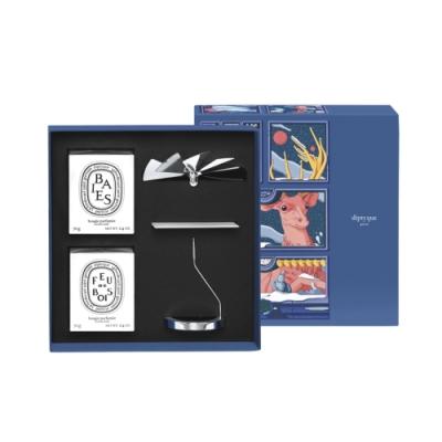 限量版★diptyque 2020聖誕限量旋轉燭罩禮盒70gx2