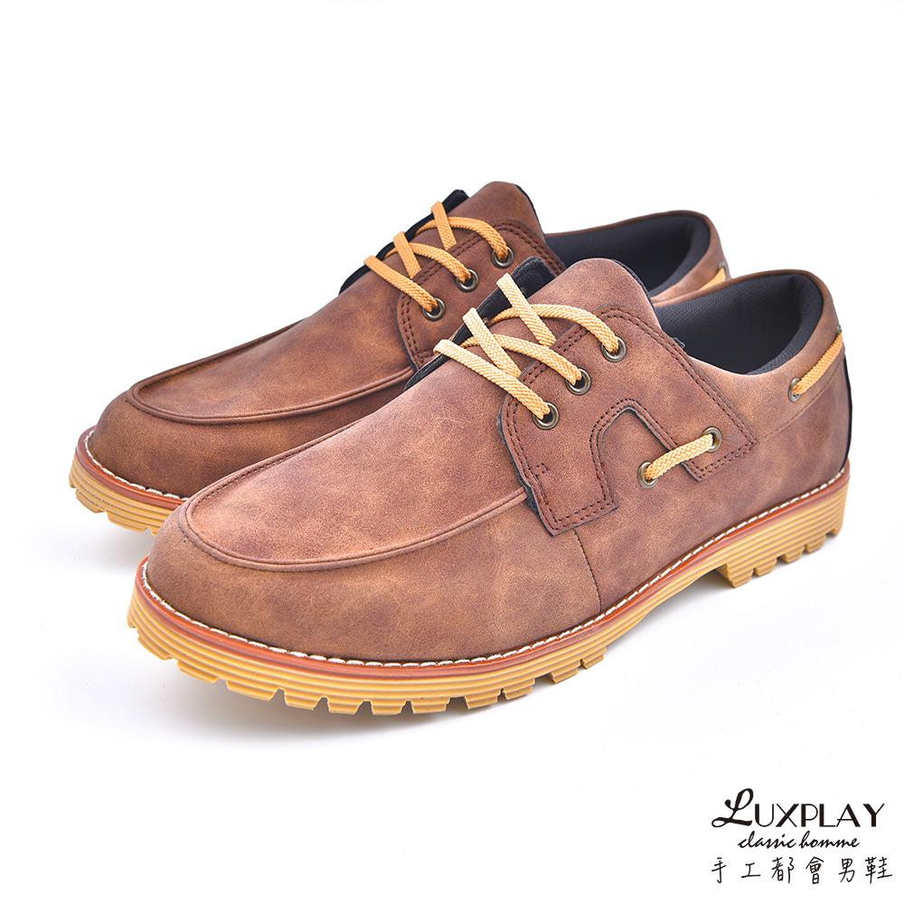 LUXPLAY  男款 紳士低調 雷根鞋 WK254咖啡