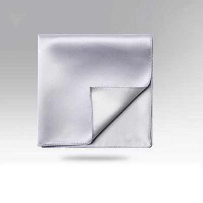 Laifuu拉福,純色西裝口袋巾裝飾新郎晏會(亮銀)