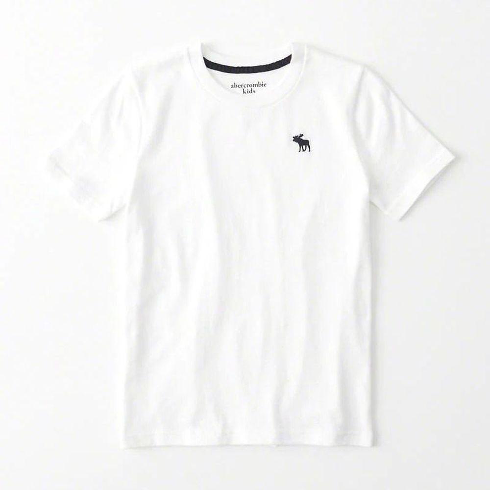 AF a&f Abercrombie & Fitch 小孩 T恤 白色 0824