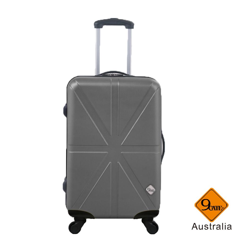 Gate9 米字英倫系列經典24吋輕硬殼旅行箱行李箱-時尚灰