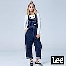 Lee X SMILEY聯名連帽牛仔吊帶長褲-深藍洗水