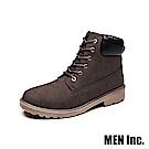 Men Inc.「強悍」軍規耐磨工作靴 (棕色)