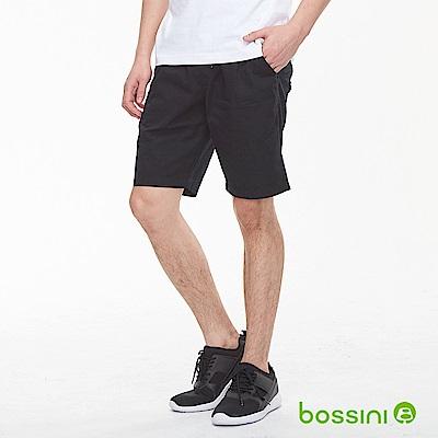 bossini男裝-素色輕便短褲01黑