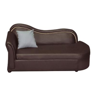 綠活居 戴曼  現代咖啡貓抓皮革貴妃椅(左&右向扶手)-165x71x75cm免組