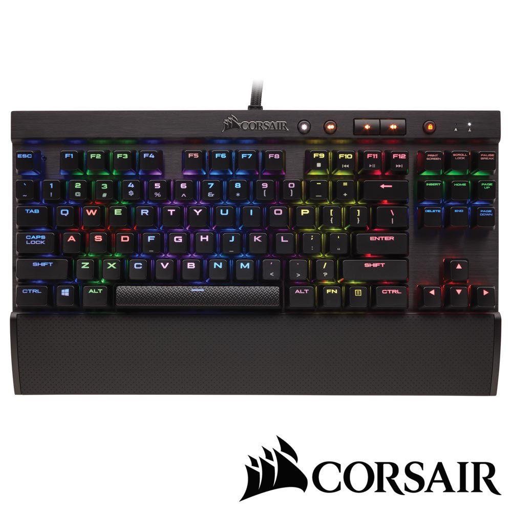 CORSAIR K65 LUX RGB機械電競鍵盤-紅軸中文