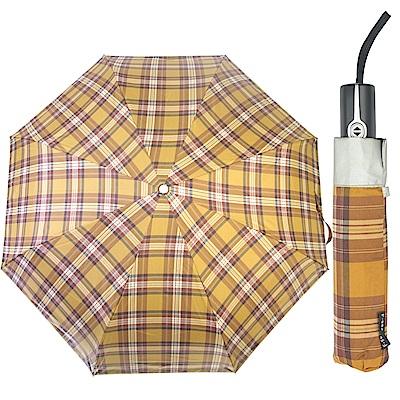 WEPON 蘇格蘭風格三折自動傘-咖啡
