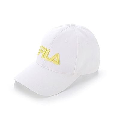 FILA 經典款六片帽-黃 HTT-1002-YE