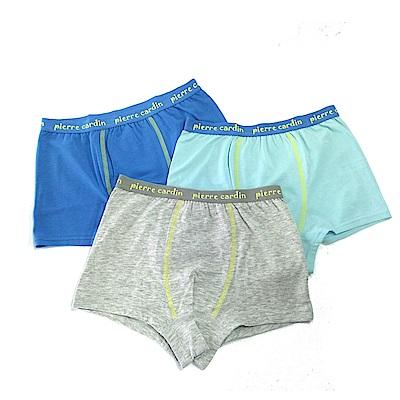 皮爾卡登 男兒童彈力素色平口褲-混色4件組(137003)