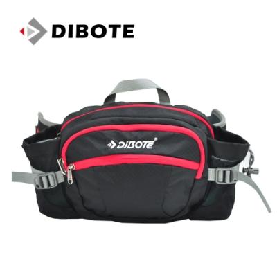 迪伯特DIBOTE 多功能戶外休閒透氣腰包/背包 (黑) -快速到貨