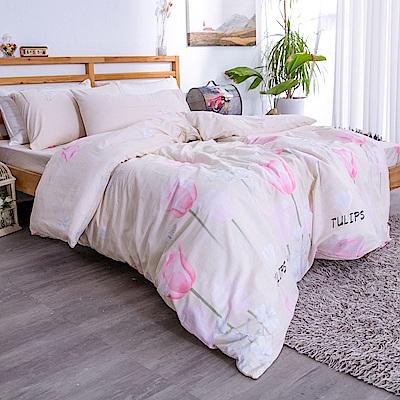 kokomos 扣扣馬 台灣製鎮瀾宮授權40支精梳棉新式兩用被雙人加床包五件組 雨果的浪漫