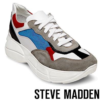 STEVE MADDEN-MEMORY潮流款拼接時尚老爹鞋-絨灰