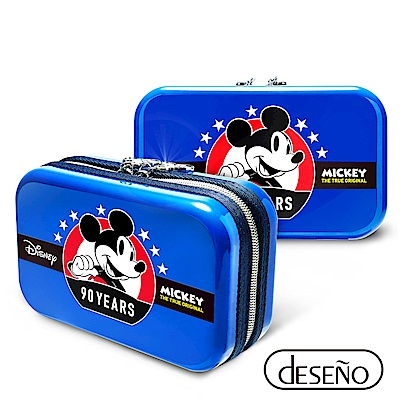 Disney 米奇系列90週年限量紀念航空硬殼包 米奇款-藍色