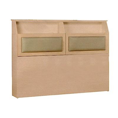 綠活居 艾麗5尺木紋皮革雙人床頭片(四色)-155x16x112cm-免組