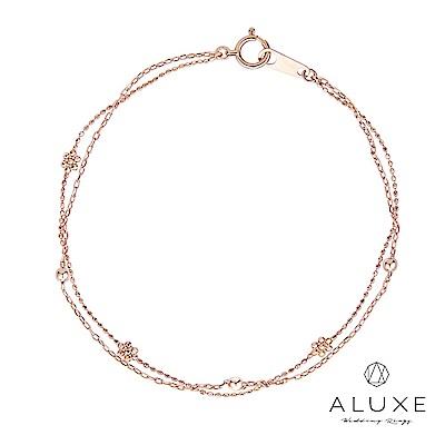 A-LUXE 亞立詩 18K金 Flora雙層光珠手鍊