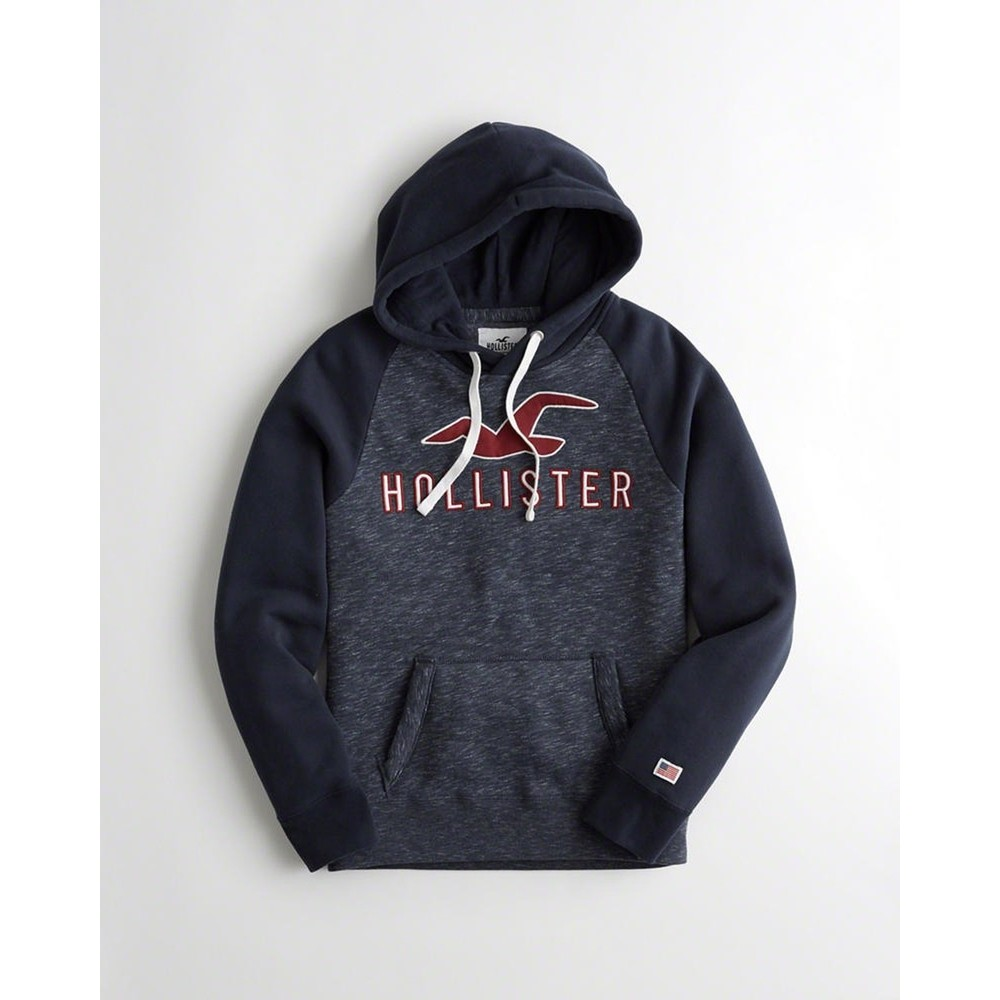 Hollister HCO 長袖 帽T  藍色 0679