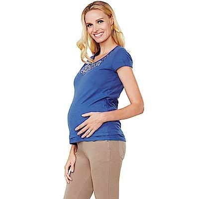 Mamaway Lace項鍊印花孕婦裝.哺乳衣(共二色)