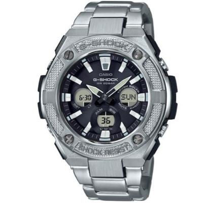 G-SHOCK 絕對強悍太陽能電力不鏽鋼錶(GST-S330D-1A)/55.9mm