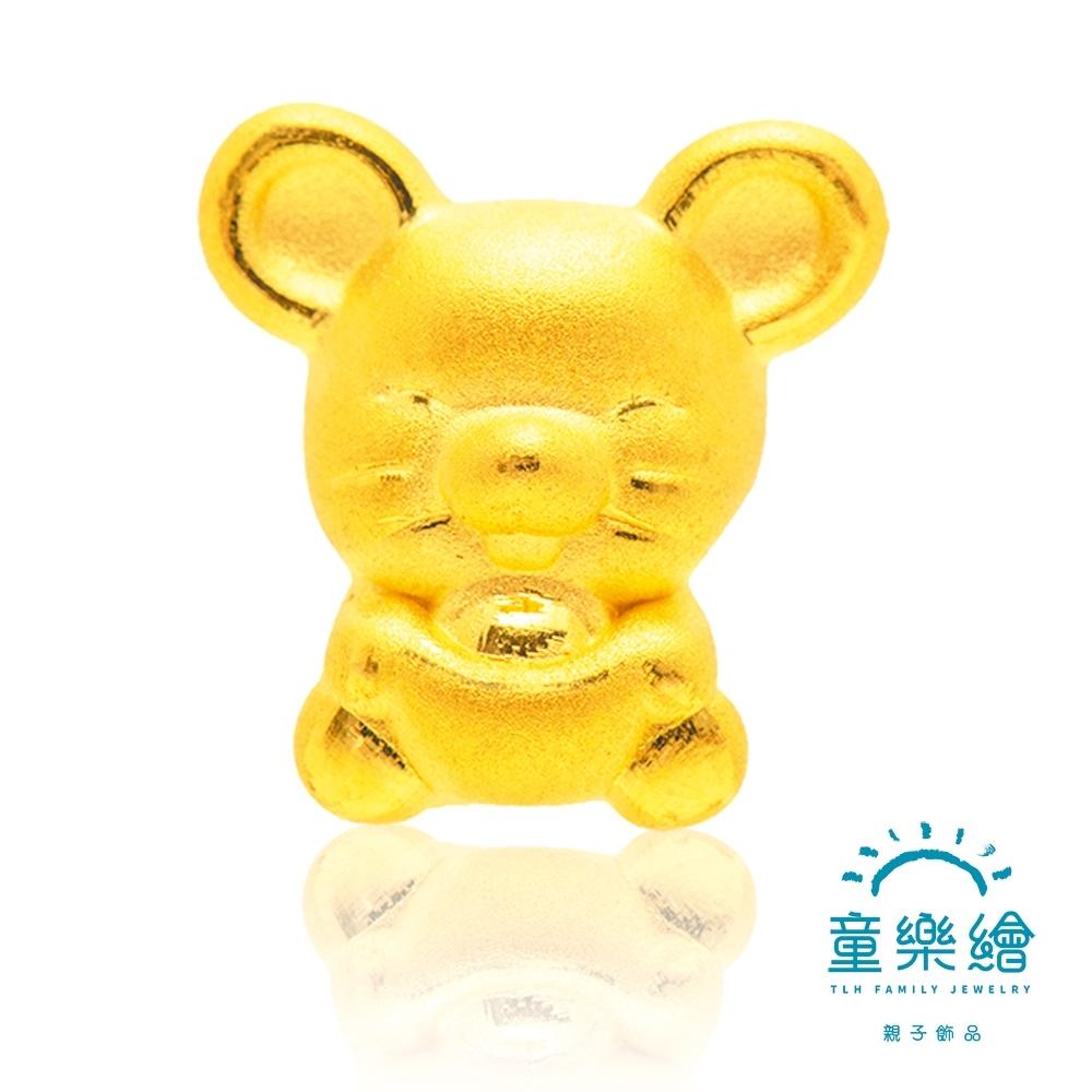 童樂繪金飾 元寶鼠兒童手鍊約重0.28錢±0.03 彌月金飾
