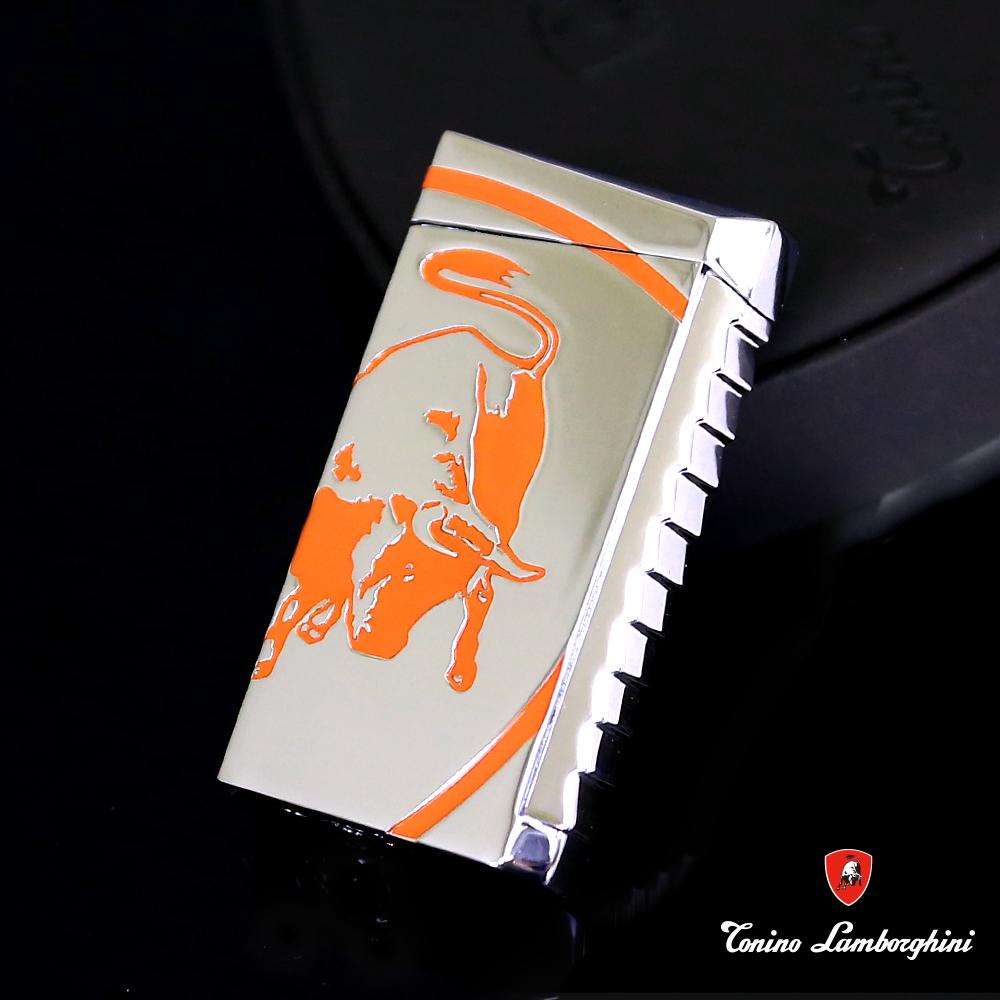 藍寶堅尼Tonino Lamborghini IL TORO LIGHTER打火機(銀橘)