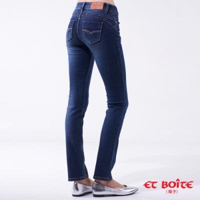 箱子BLUE WAY  - 經典弧線低腰小直筒褲