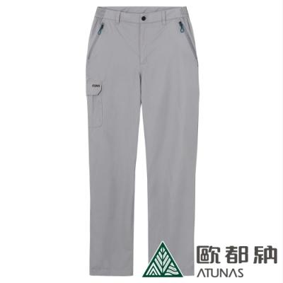 【ATUNAS 歐都納】男款戶外休閒防水透氣天鵝絨保暖長褲A-PA1822M灰