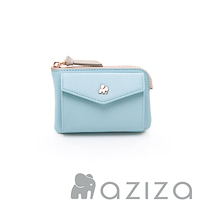 aziza 信封零錢包-水藍