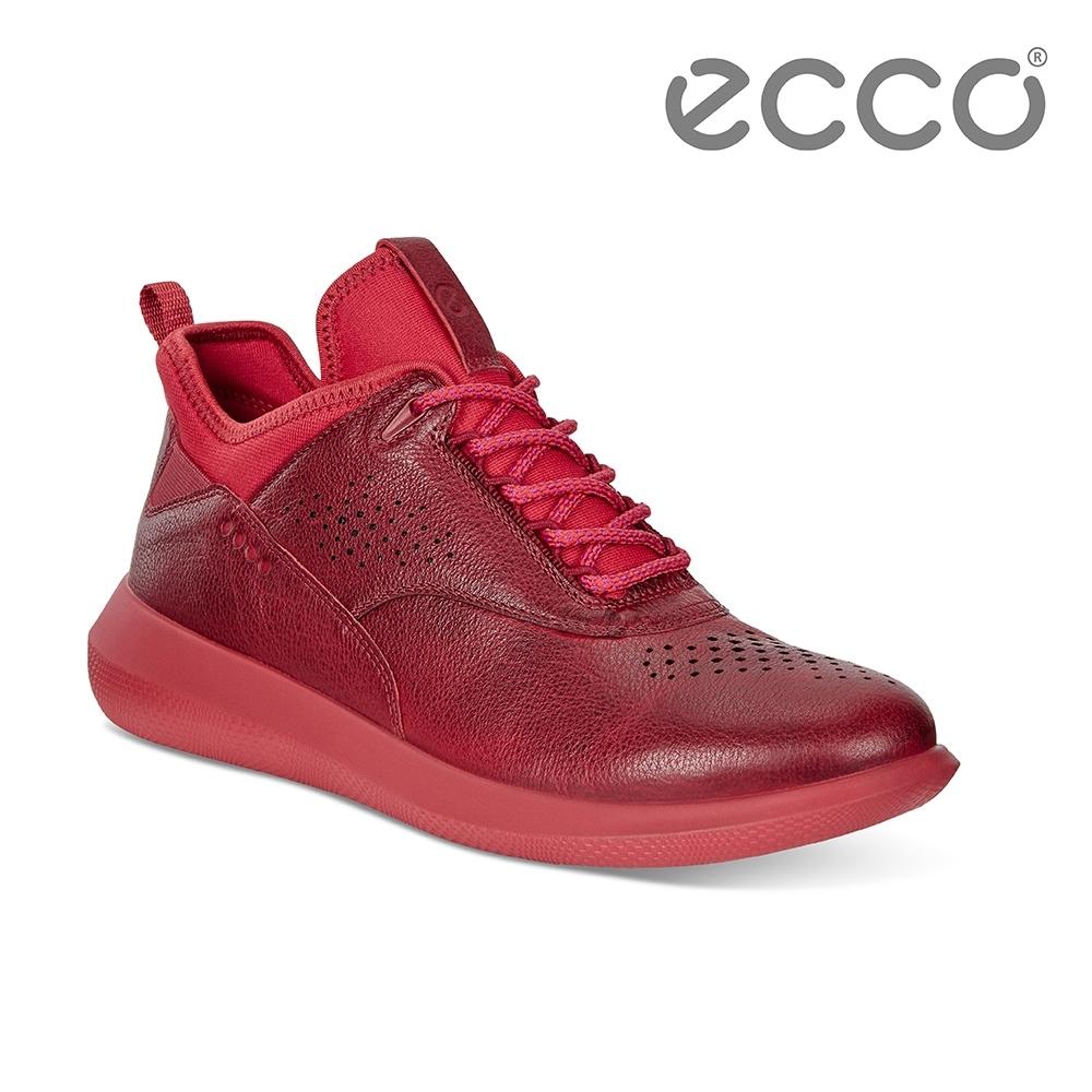 ECCO SCINAPSE W 透氣舒適運動休閒鞋 女-紅
