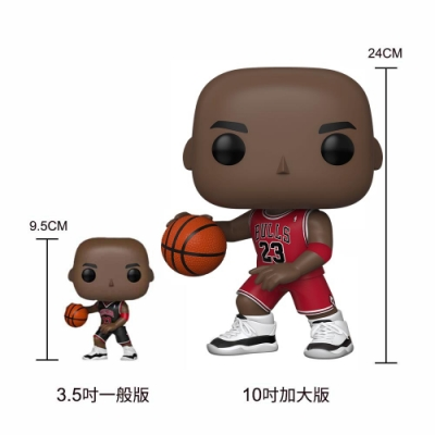 Funko POP NBA 大頭公仔 10吋加大版 公牛隊 Michael Jordan 紅色
