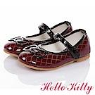 HelloKitty童鞋 高級手工超纖皮輕量減壓娃娃鞋-酒紅
