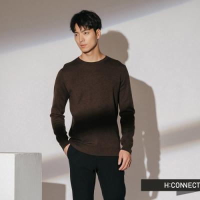 H:CONNECT 韓國品牌 男裝-素面柔軟針織上衣-棕