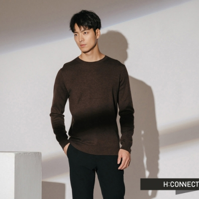 H:CONNECT 韓國品牌 男裝-素面柔軟針織上衣-棕(快)