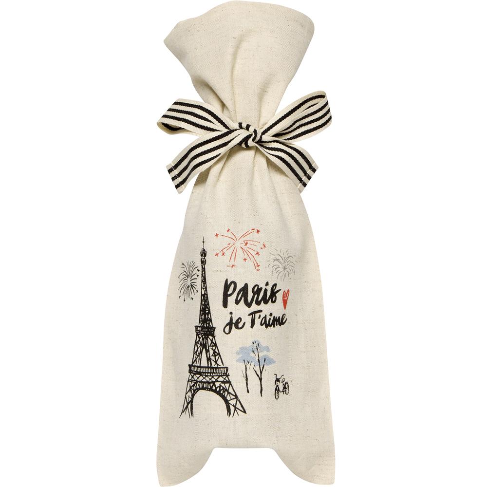 《NOW》棉麻混紡酒袋(巴黎時光)