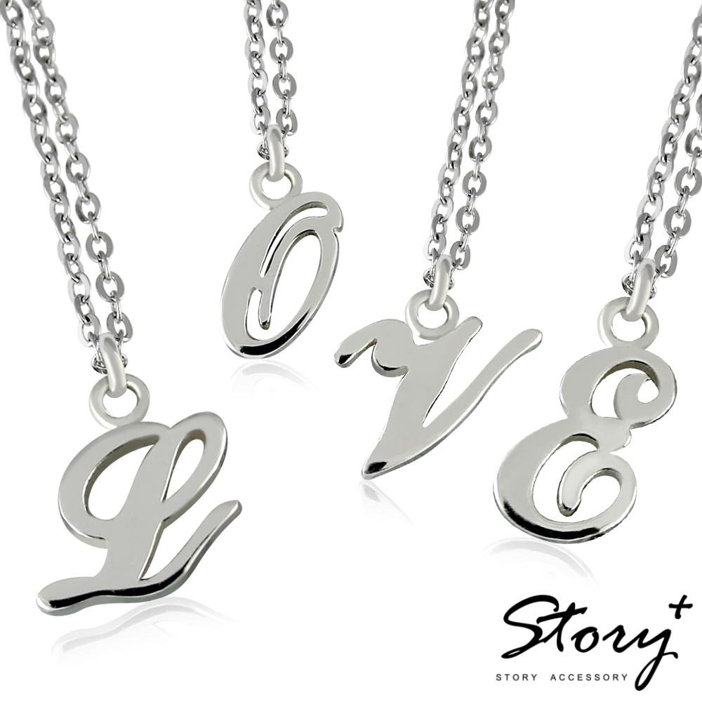 STORY故事銀飾-字母純銀項鍊