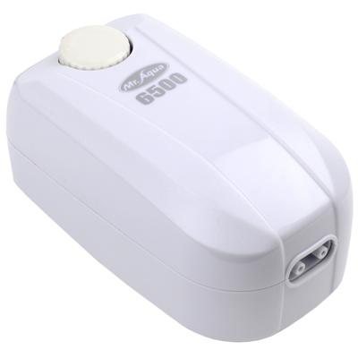 《Mr.Aqua》雙孔6500型密閉式節能省電靜音打氣馬達(送矽膠軟管)