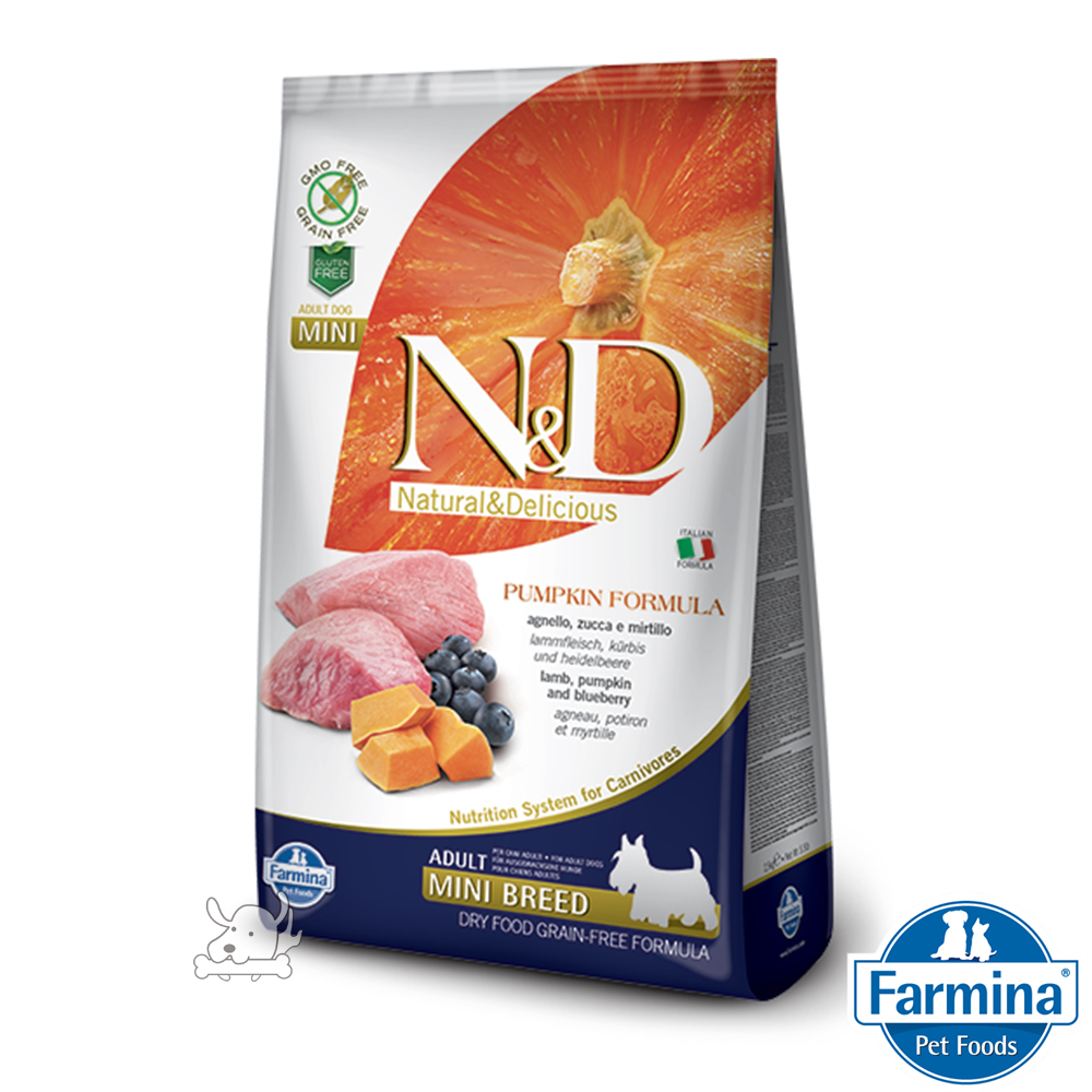 Farmina法米納 ND挑嘴成犬南瓜無穀糧-羊肉藍莓-小顆粒(PD-03)800g