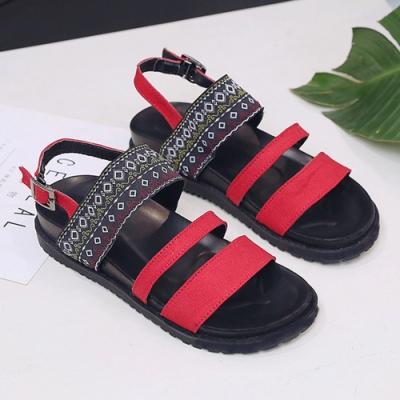 KEITH-WILL時尚鞋館百搭造型配色涼鞋-紅色