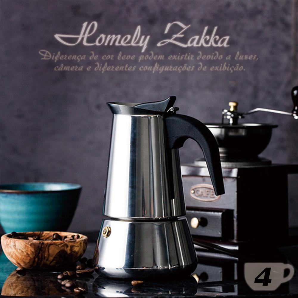 Homely Zakka 都會簡約不鏽鋼咖啡壼/摩卡壼 (4杯)