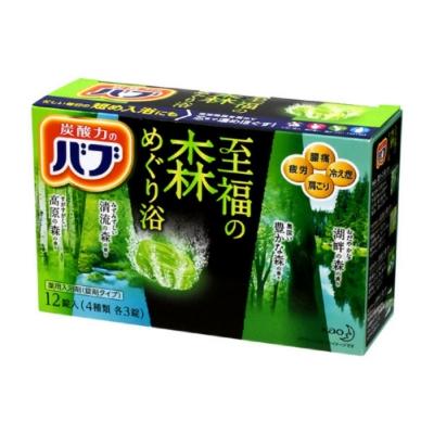日本品牌 花王KAO 四合一至福森林泡澡碇 12碇