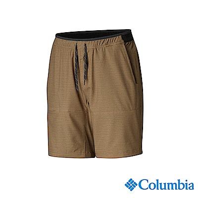 Columbia 哥倫比亞 男款-UPF50防潑短褲-棕褐 UAE06780TN