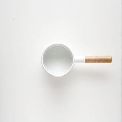 日本kaico 簡約風琺瑯牛奶鍋-S尺寸