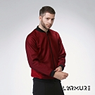 L'ARMURE 男裝 立體紋理 飛行夾克 紋理紅