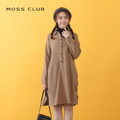 【MOSS CLUB】棉質格紋立體剪裁-連身裙(三色)