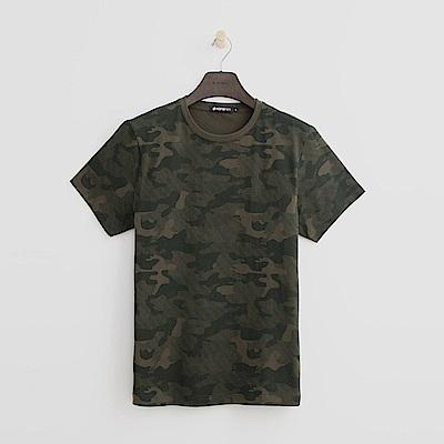 Hang Ten - 男裝 - 迷彩風T恤-綠色