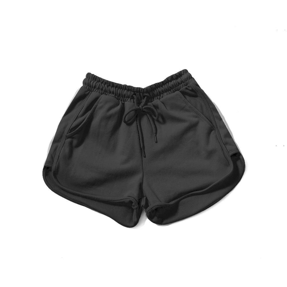 LAKING.GIRLS-抽繩棉質休閒短褲
