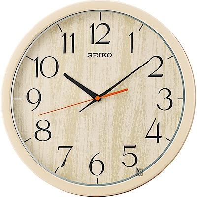 SEIKO精工 歐風時尚 滑動式秒針靜音掛鐘(QXA718A)-31cm
