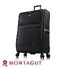 MONTAGUT 夢特嬌-MIT-28吋多色復古文青大雙輪輕量箱(超輕量聚酯纖維)