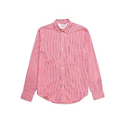 Timberland 男款紅色Oxfd Gghm格子長袖襯衫